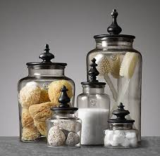 Decorative Things To Put In Glass Jars Mesmerizing Bathroom Glass Jars Modern Ideas What To Put In Home 24