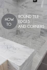 how to round tile edges and corners