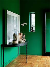 green wall paintEmerald Green Walls  Atticmag