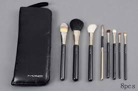 whole mac makeup brushes leather 8 pcs set