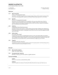 Cinematographer Resume Free Resume Example And Writing Download