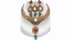 Antique Polki Jewellery Designs Polki Jewellery Exotic Gold Plated Jewelry Sparkling Polki Jewelry Designs