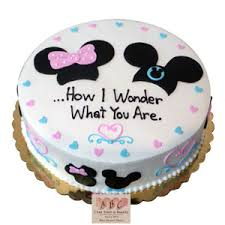 2275 Mickey Minnie Mouse Gender Reveal Cake Abc Cake Shop Bakery
