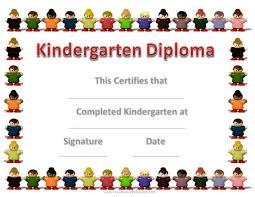 Kindergarten Diploma Kindergarten Pinterest Kindergarten
