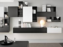image of contemporary wall mounted shelves