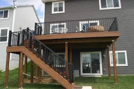 maintenance free deck stairs ideas