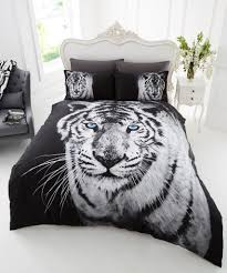3d animal white tiger premium duvet cover bedding set