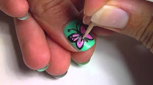 Butterfly Nail Art - YouTube