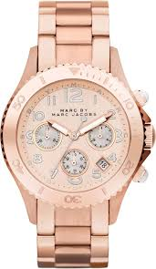 review product marc by marc jacobs mbm3156 mens rose gold rock gold watches for men marc by marc jacobs