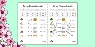 Free, printable phonics worksheets to develop strong language skills. Spring Missing Sounds Worksheet Teacher Made