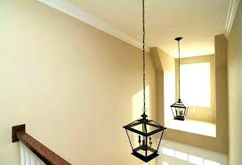 2 story foyer chandelier installation two height s