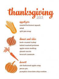 Sample Thanksgiving Menus