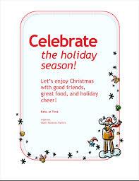 Microsoft Christmas Party Holiday Party Invitation