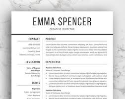 Modern Professional Resume Layout Resume Layout Etsy