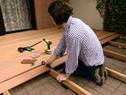 wooden deck building explained step