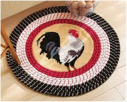 Round Rooster Kitchen Rugs Interior Sleek Gray Cabinets Image Of Round Rugs For Luxurious