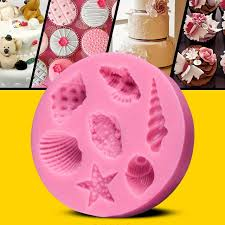 Decorative Ice Cube Trays 60D Ocean Conch Starfish Shape Chocolate Silicon Mold Party Cake 59