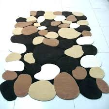 irregular shaped rugs fossil rug bath mats