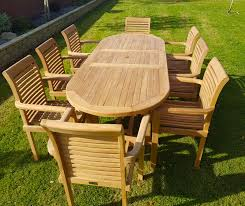 garden dining tables. Interesting Dining NewSale Teak Extending Table With Stacking Chairs And Garden Dining Tables A