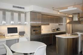 White Modern Kitchen 15 Modern Kitchen With Stainless Steel Cabinets 2100 Baytownkitchen
