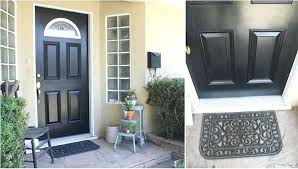 black paint for front door vtella site regarding painting idea 10