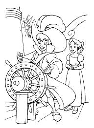 Coloriage A Imprimer Peter Pan Aux Commandes Du Bateau Pirate