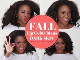 Fall Lip Color Ideas Dark Skin