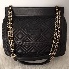 Tory Burch - Tory Burch Black Marion Quilted Saddle Bag from ... & Tory Burch Black Marion Quilted Saddle Bag Adamdwight.com