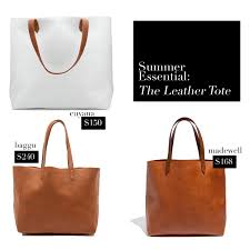 summer essential the leather tote