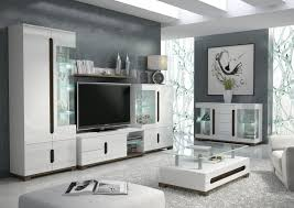 White Gloss Furniture For Living Room Lorenz High Gloss White Sideboard Tv Unit Tall Display Cabinet