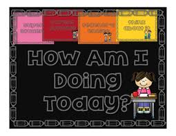 How Am I Doing Chart How Am I Doing Today Part Ii A Behavioral Chart By