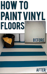 How to Paint Vinyl Floors: easy step-by-step instructions for updating old