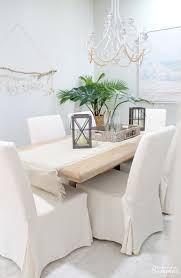 Ikea dining room chairs Bench Why Love My White Slipcovered Dining Chairs House Full Of Summer These House Full Of Summer Why Love My White Slipcovered Dining Chairs House Full Of Summer