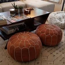 details about authentic moroccan of 2 pouf leather pouf ottoman big promo of 2 pouffe footst
