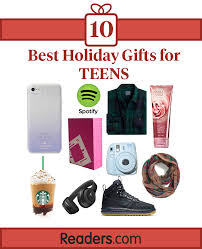 Teen gifts for holidays