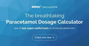 Paracetamol Dosage Calculator Omni