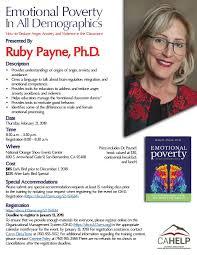 CAHELP Bringing Ruby Payne To San... - San Bernardino County Superintendent  of Schools | Facebook