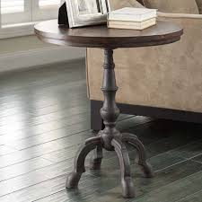 image of simple foyer table round