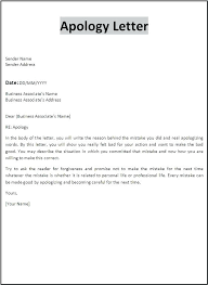 Letter Of Apology Sample Beauteous Apology Letter For Mistake To Boss Manager Oliviajaneco