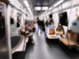 people inside subway train. Fine Subway People Inside The Train Wagon At Subway Station Intentional Blurred Added  Post Production Creative Abstract Background With In Modern Style To Inside Subway Train