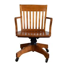 Bedroom: Immaculate Pottery Barn Swivel Wooden Desk Chair With Arm ...