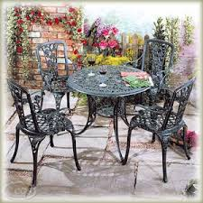 wrought iron garden furniture. Beautiful Garden Cast And Wrought Iron Patio Garden Furniture UK R