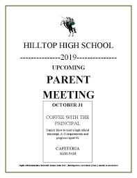Sunday School Report Card Template Hilltop High School