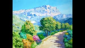 Как нарисовать <b>горный пейзаж</b>. Студия живописи валенсия ...