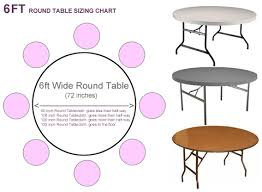 what size tablecloth for 6ft round table