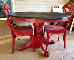 clawfoot dining table and chairs fancy antique round oak pedestal dining table home d red painted and glazed round pedestal oak dining table chairs oak