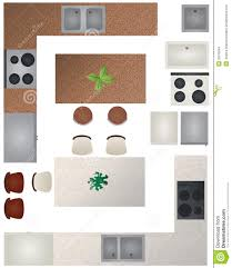 Used kitchen furniture Buffet Collection Of Furniture That Can Be Used When Making Floor Plan Pinterest Floor Plan Kitchen Collection Stock Vector Illustration Of Gray