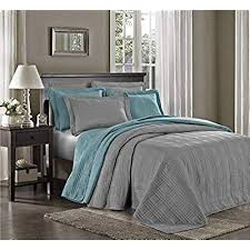 oversized king size blanket.  Size Chezmoi Collection Kingston 3piece Oversized Bedspread Coverlet Set King  Gray For King Size Blanket