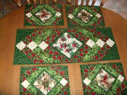 Christmas Table Runner Patterns Inspiration Christmas Table Runner And Mats Pattern