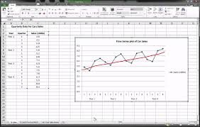 forecast model in excel excel time series forecasting part 1 of 3 youtube